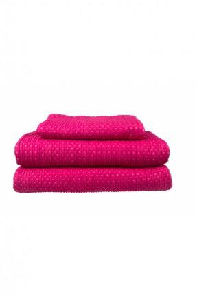 طقم غطاء سرير مفرد / 240 * 250 سم / فوشي