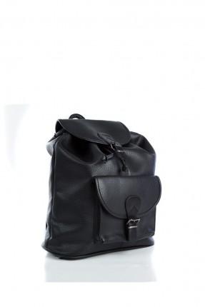 حقيبة ظهر جلد رجالي - اسود