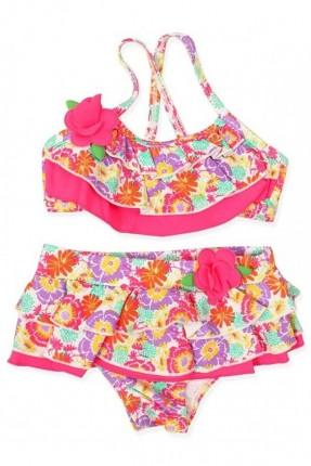 ملابس سباحة بيبي بناتي مزخرف