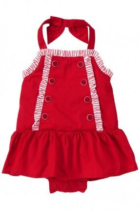 فستان بيبي بناتي - احمر