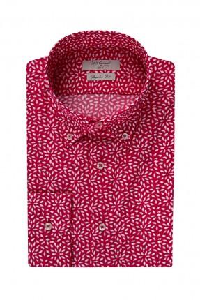 قميص رجالي - احمر