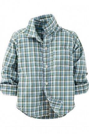 قميص اطفال ولادي  مقلم - ازرق