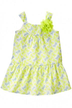 فستان اطفال بناتي منقوش فراشات