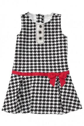 فستان اطفال بناتي منقوش مربعات