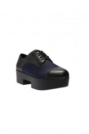 حذاء  نسائية جلد - كحلي
