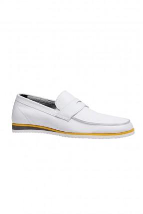 حذاء رجالية جلد - ابيض
