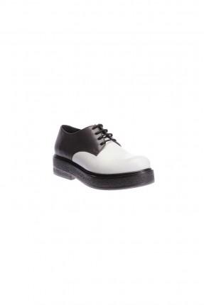 حذاء نسائي جلد -ابيض
