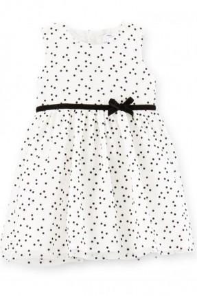 فستان اطفال بناتي منقط مع كمر