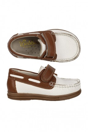 حذاء ولادي اطفال مطرز من الامام