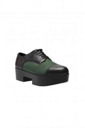 حذاء نسائي جلد - اخضر