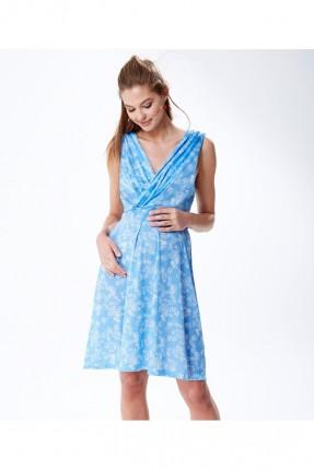 فستان حمل مزين مع قبة شكل سبعة