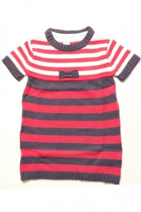 فستان اطفال بناتي مقلم