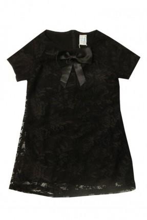 فستان اطفال بناتي دانتيل - اسود