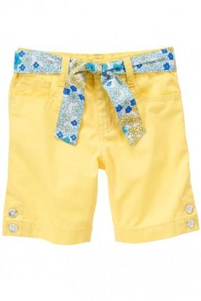 شورت اطفال بناتي - اصفر