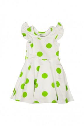 فستان اطفال بناتي منقط - اخضر