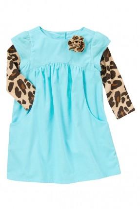 فستان اطفال بناتي - ازرق فاتح
