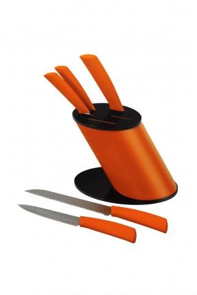 طقم سكاكين ستانلس / 6 قطع / برتقالي