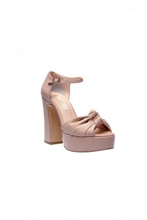 حذاء كعب نسائي - وردي