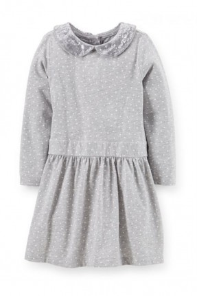 فستان اطفال بناتي - رمادي