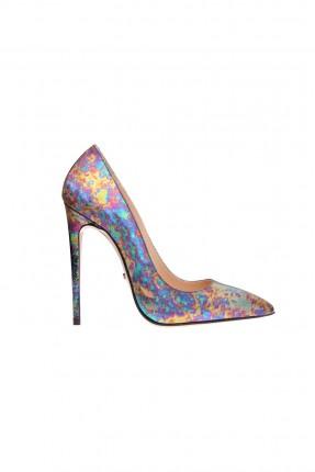 حذاء نسائي مزخرف بالوان