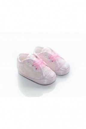 حذاء بيبي بناتي منقوش - زهري