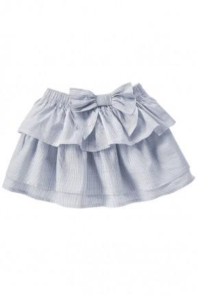 تنورة اطفال بناتي طبقتين مع عقدة