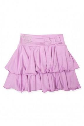 تنورة اطفال بناتي طبقات - وردي