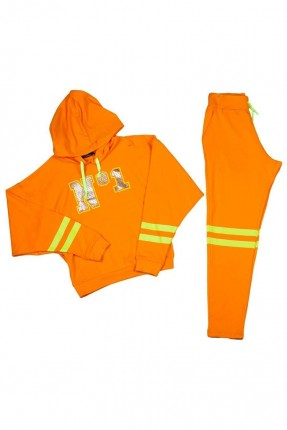 بيجاما اطفال بناتي - برتقالي