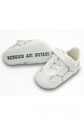 حذاء بيبي - ابيض