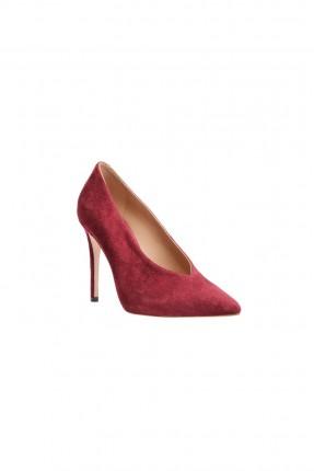 حذاء نسائي كعب - خمري