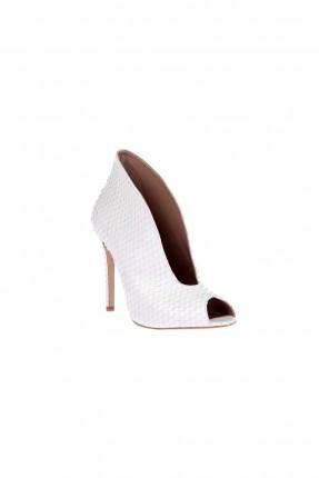 حذاء نسائي جلد - ابيض