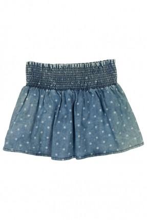 تنورة اطفال بناتي منقط - ازرق