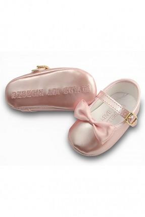 حذاء بيبي بناتي مع بكلة - وردي