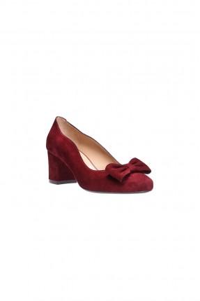 حذاء نسائي جلد - خمري