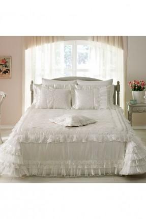 طقم غطاء سرير عرائسي دانتيل