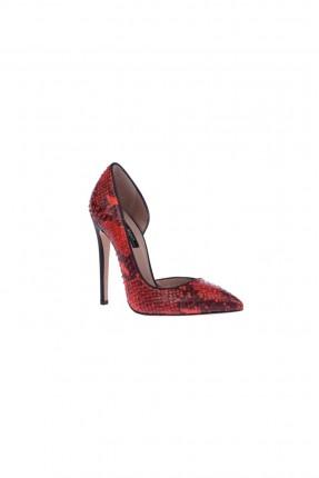 حذاء نسائي جلد - احمر