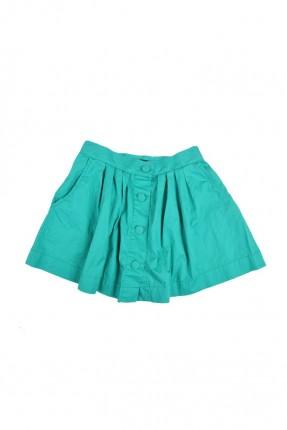 تنورة اطفال بناتي مع ازرار - اخضر