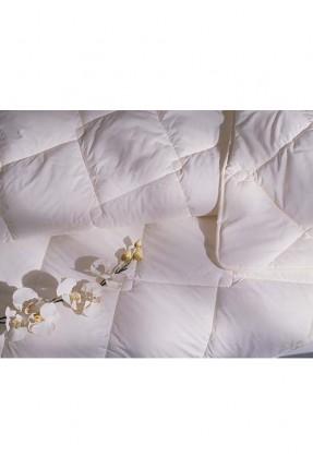 لحاف سرير مزدوج قطني - ابيض