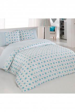 طقم غطاء لحاف سرير مفرد / 3 قطع / ازرق