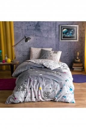 طقم غطاء لحاف سرير مفرد - قطن 100%