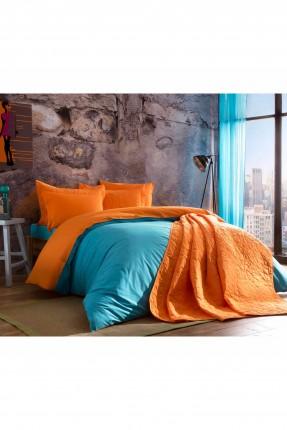 طقم غطاء لحاف سرير مزدوج / 3 قطع / تركواز