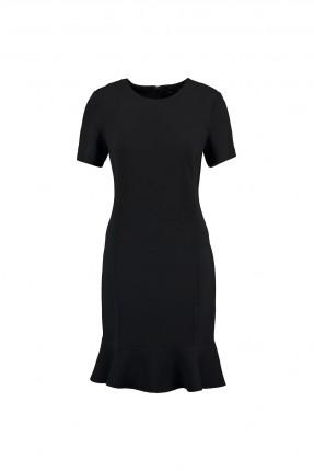 فستان نسائي نصف كم - اسود