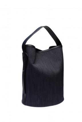حقيبة يد نسائية - ازرق دامن