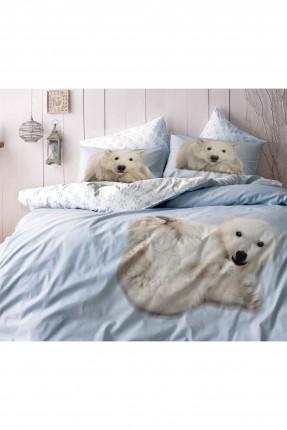 طقم غطاء لحاف سرير مفرد - ازرق