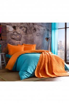 طقم غطاء لحاف سرير مفرد / 3 قطع / تركواز