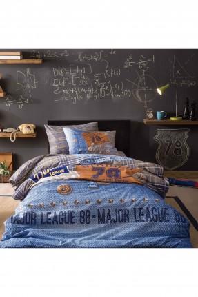 طقم غطاء لحاف سرير اطفال / قطعتين / ازرق