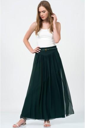 تنورة شيفون - اخضر داكن