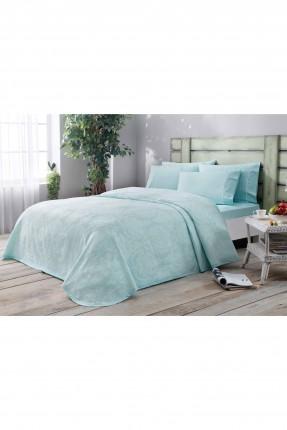 طقم غطاء سرير مفرد / 3 قطع / تركواز