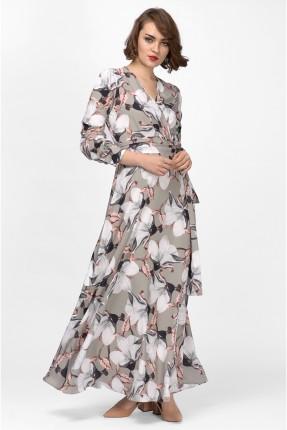 فستان سبور شيفون طويل مورد