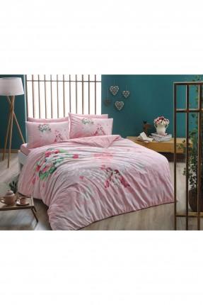 طقم غطاء لحاف سرير مزدوج 3 قطع / وردي